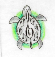 music turtle commission by opioid