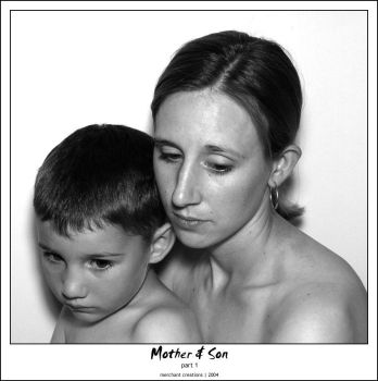 mother and son - b+w p1 by vr6stress