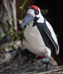 Great spotted woodpecker stuffed toy by Little-Blind-Chicken