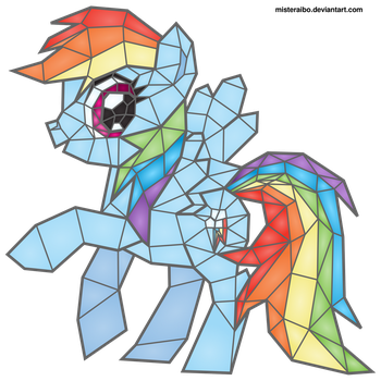Stained Glass: Rainbow Dash by MisterAibo