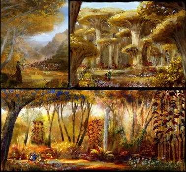 Genius Loci: Yellow forest concepts by Ranarh