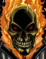 Ghost Rider Colored by likwidlead
