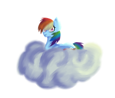 Rainbow on a cloud by Clowdiw