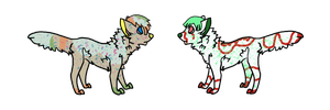 Mystery Dogs #20-21 - kannarith by Feralx1