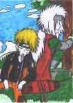 Naruto and Jirayia sitting under tree:) by Fran48