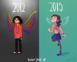 3 Years difference by Choppywings