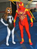 Spider-Woman and Iron Spider-Man by Urvy1A