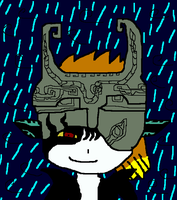 Midna In The Rain by ShadowJeice