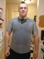 finished chainmail shirt front 1 by BlackhandCustoms