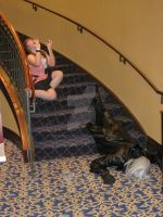 Blindfolds and Stairs Do Not Mix by werewolf29