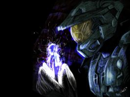 Master Chief and Cortana by CerxiS