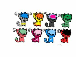 Kitten Adoptables #6, Prices Vary by Foreststone