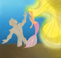 tangled under the sea by candydoodlz
