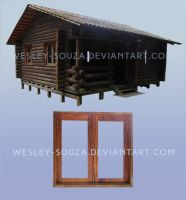 Window and Wooden House - PNG Stock by Wesley-Souza