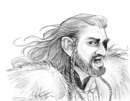 Thorin Yelling Pencil Study by cfgriffith