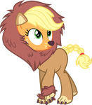 Applejack in a lion costume by Yetioner
