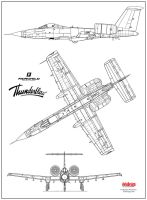 Fairchild Thunderblow 3-view by Bispro