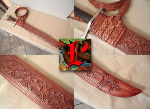 Decorated scabbard by Leoricus