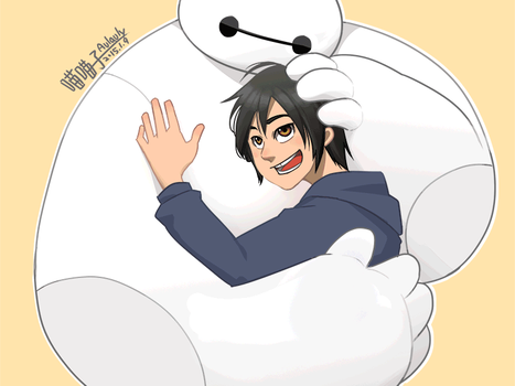 Big hero 6_A warm hug from Baymax by aulauly7