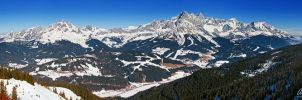 Dachstein and Bischofsmuetze by Nightline
