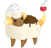 PokeSweets: Mareep by Vellvette