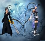 Aqua and Xion by TheLadyOfDarkness