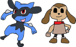 Riolu and Rush.EXE by tanlisette