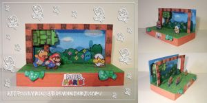 Paper Mario Diorama by Lyrin-83