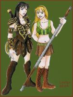 Xena and Gabrielle by loolaa