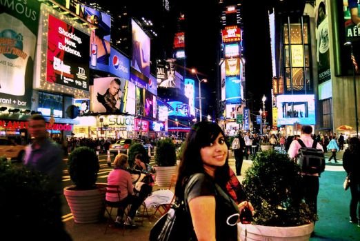 Me at times square by daniela-ily