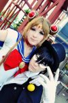Sailor Moon and Tuxedo Mask by JhonkunAGM