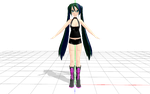 MMD model download: Punk Miku by EmmysMMDProductions