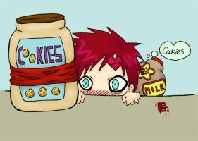 GAARA AND COOKIES FOR LIZKUN by starizzy