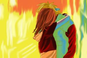 Minato and Kushina .:Kiss:. by Kimia-dono