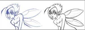 Pixie +sketch and line+ by 77Shaya77