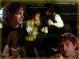 Hobbits in the Green Dragon by Estella-Brandybuck