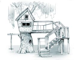 Treehouse Playscape by obxrussell