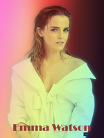 Emma Watson Rainbow Wallpaper 2 by AMDEMBOG123