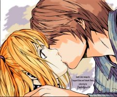 coloured manga: Light and Misa by End1ess-Name1ess