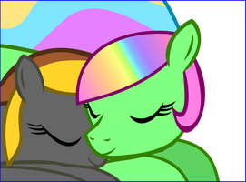 Me and Shadow sleeping by jeurobrony