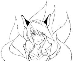 Ahri league of legends by Shakav088