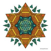 Mandala drawing 51 coloured by Mandala-Jim