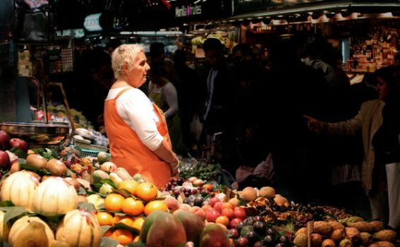 at the market by krummipictures