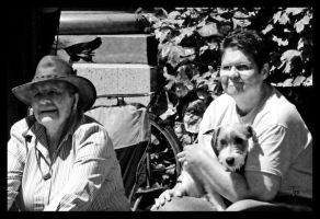 Spectators and Their Dog by TeaPhotography