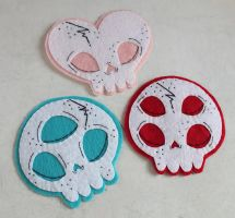 Handsewn Skull Patches by loveandasandwich