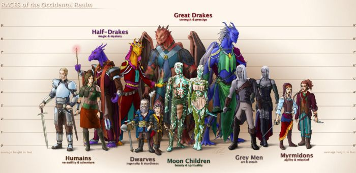 Races of the Occidental Realm by TomXaros