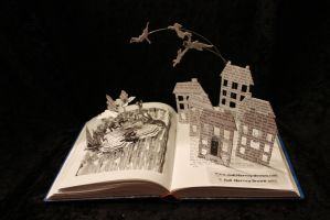 Peter Pan Book Sculpture by wetcanvas