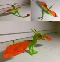simple wyvern with claws by palaeorigamipete