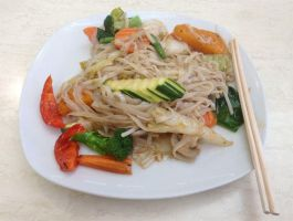 176.365 - Rice Noodles with Oyster Sauce by Mahou-Koneko