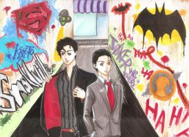 Back Alleys and Suits by andiusagi